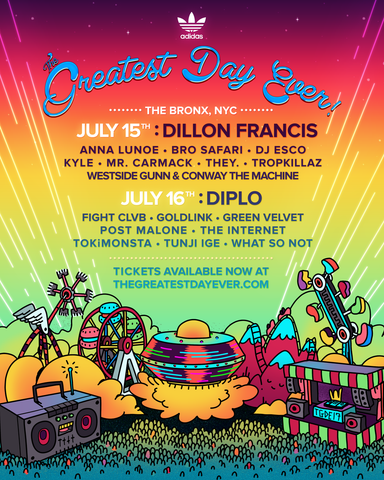 76730a2f0d13 Diplo and Dillon Francis To Headline The Greatest Day Ever in NYC