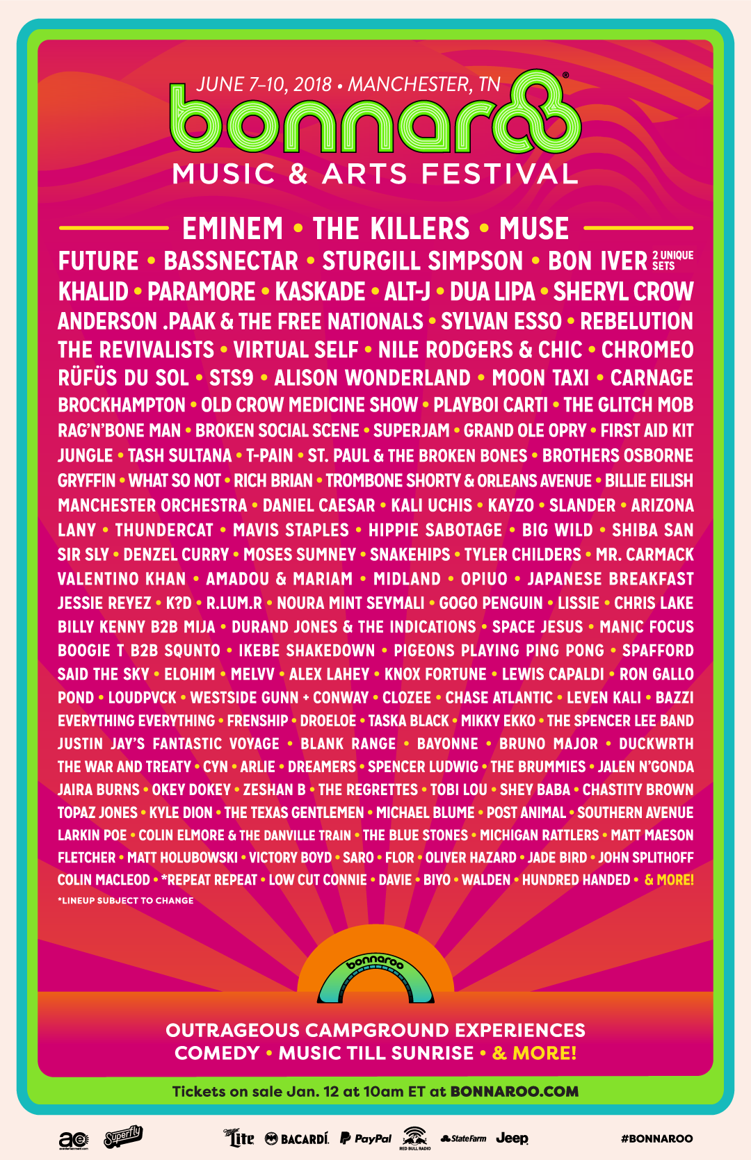 07a851746 Bonnaroo dropped an incredibly diverse lineup for its 2018 installation and  the talent which includes Bassnectar, Kaskade, Virtual Self, What So Not,  Kayzo, ...