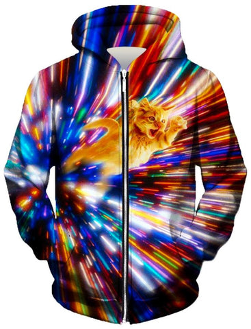 Cat Vortex Zip-Up Hoodie