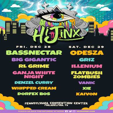 HiJinx Festival Releases a Jaw Dropping New Year's Lineup