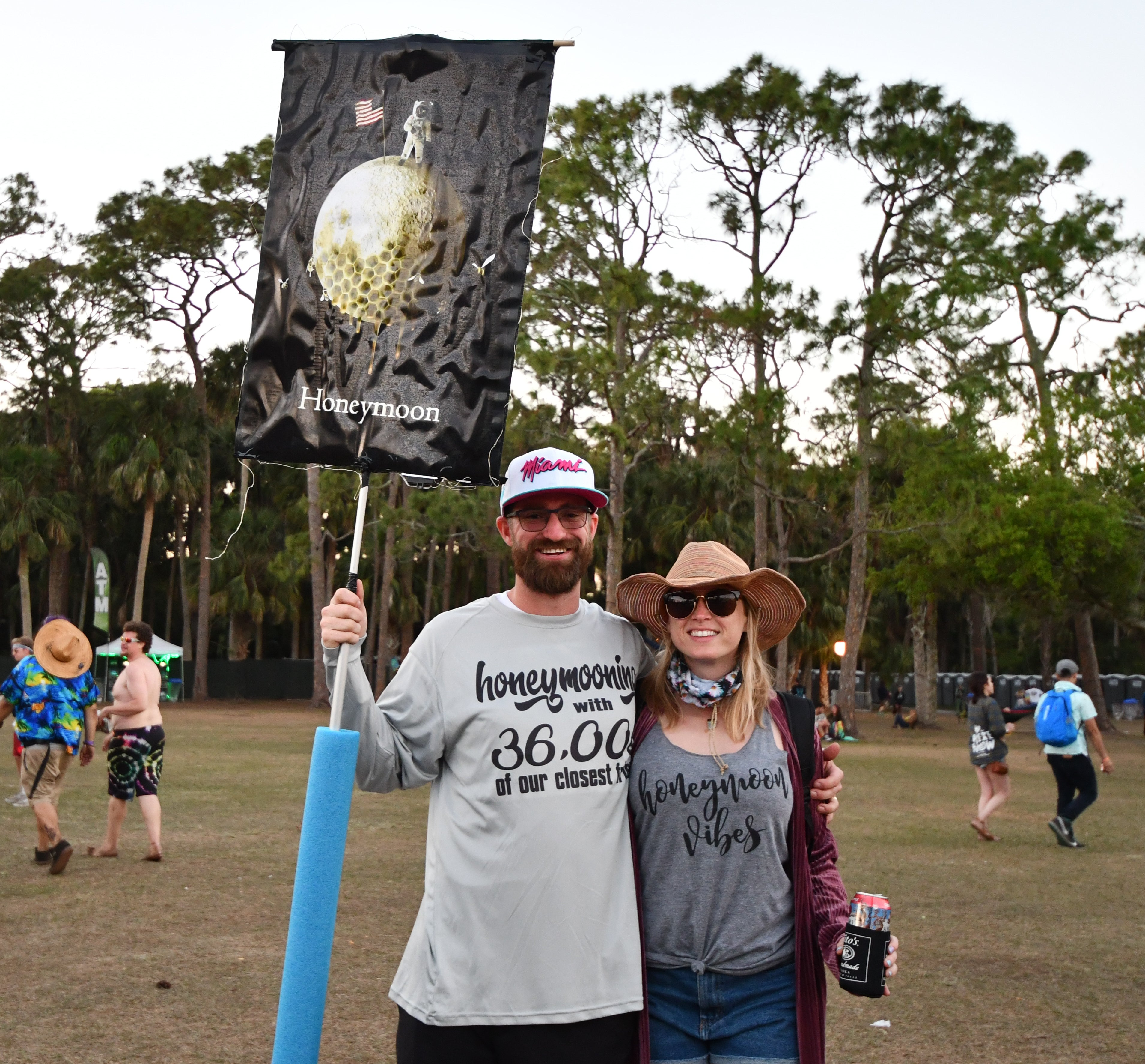 dcfe21807c Kendal   Craig from Tampa decided to celebrate their honeymoon at  Okeechobee 2018. What a great way to enjoy all the music you love with all  the people you ...