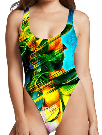 Adam Priester - Space Fruit High Cut One-Piece Swimsuit