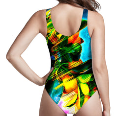 Adam Priester Space Fruit Low Cut One-Piece Swimsuit