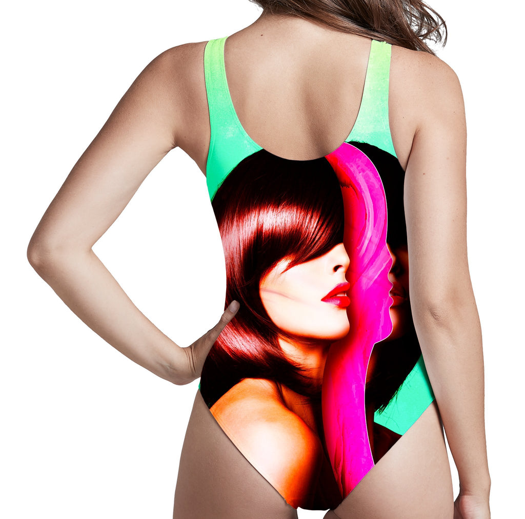 Adam Priester Split Hairs Low Cut One-Piece Swimsuit
