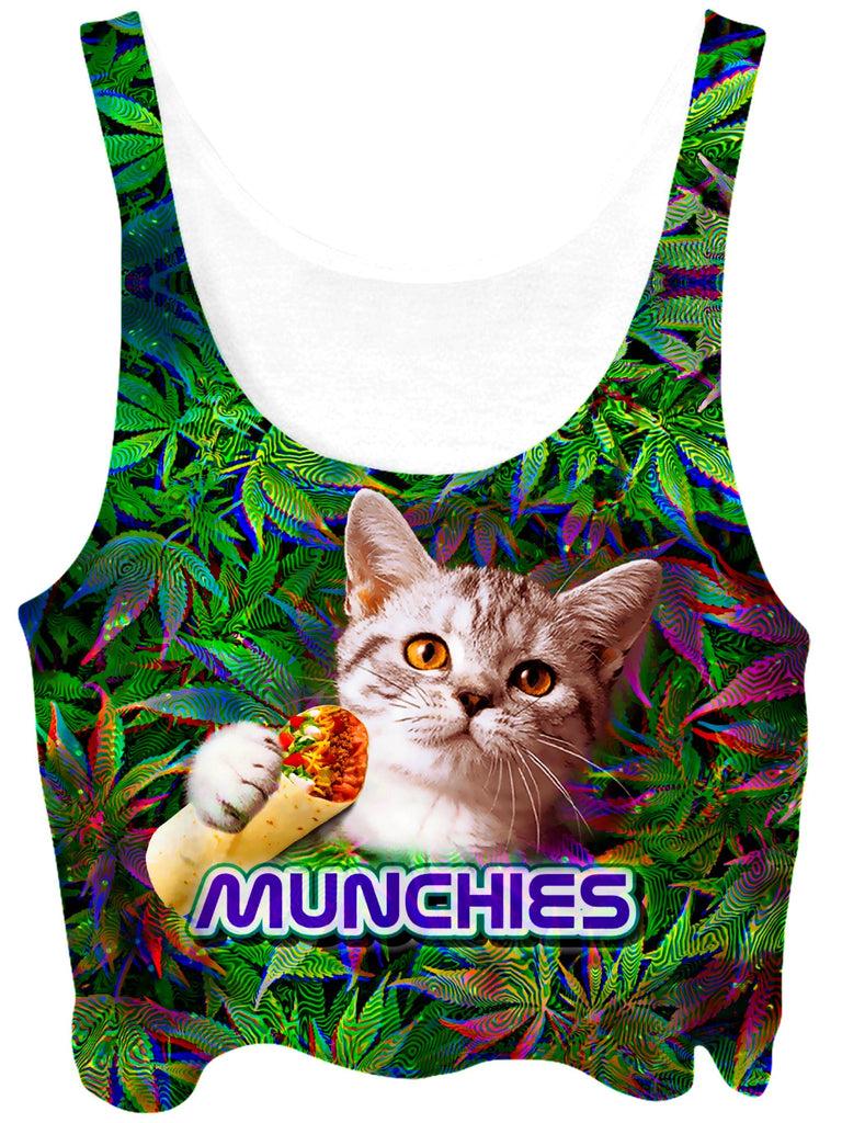 Big Tex Funkadelic 420 Munchies Cat Crop Top