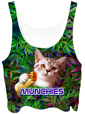 Big Tex Funkadelic - 420 Munchies Cat Crop Top