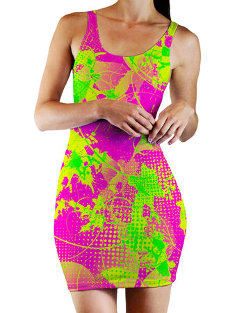 Big Tex Funkadelic - 80s Baby Bodycon Mini Dress