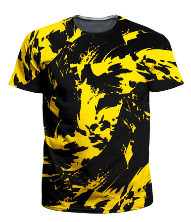 Big Tex Funkadelic - Black and Yellow Paint Splatter Men's T-Shirt
