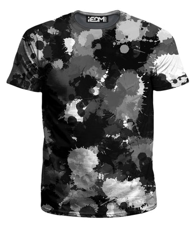 Big Tex Funkadelic - Black White and Grey Paint Splatter T-Shirt and Shorts with PM 2.5 Face Mask Combo