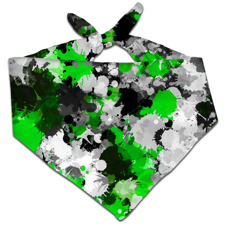 Big Tex Funkadelic - Green and Grey Paint Splatter Bandana