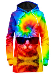 Big Tex Funkadelic Kitten Tie-Dye Hoodie Dress