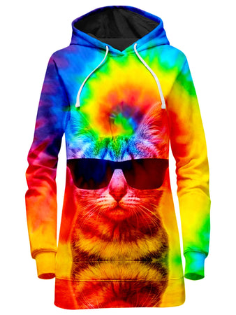 Big Tex Funkadelic - Kitten Tie-Dye Hoodie Dress