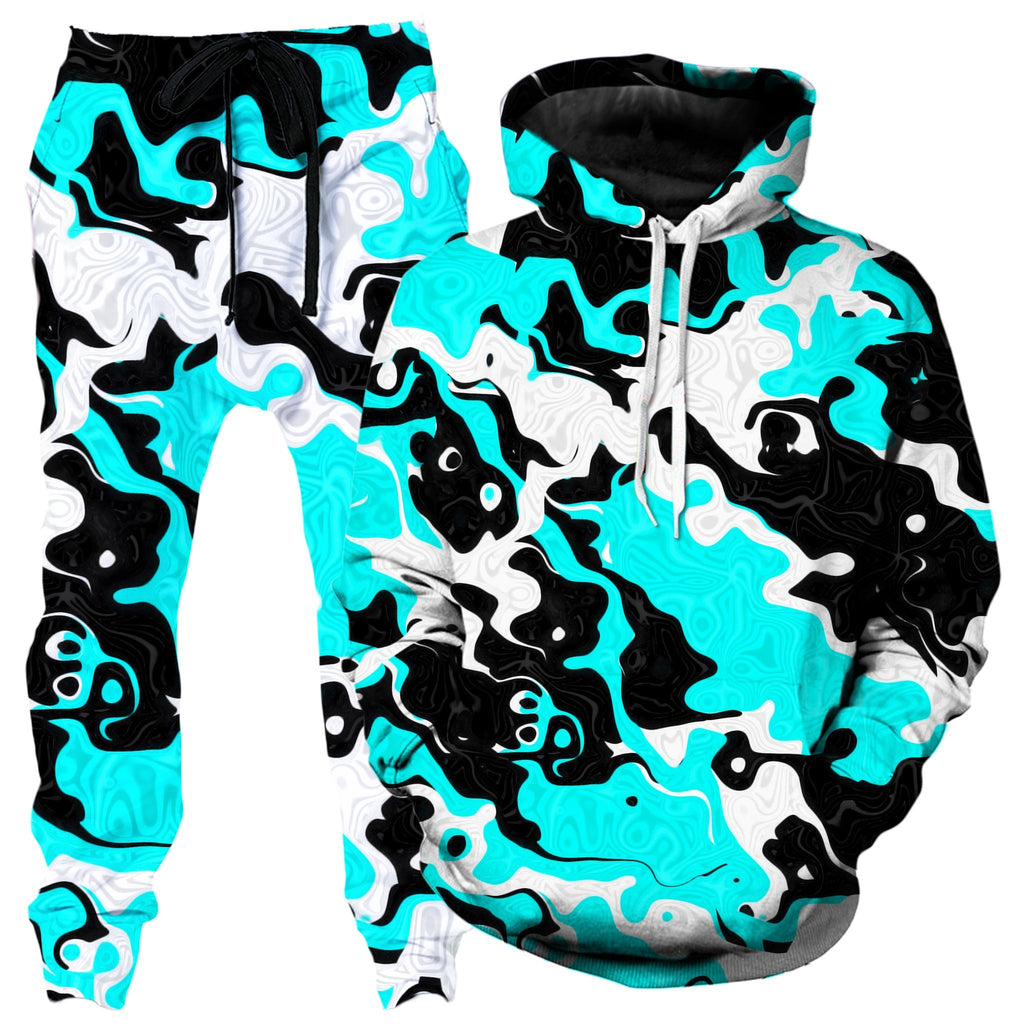 Big Tex Funkadelic Oil Spill Rave Camo Hoodie and Joggers Combo
