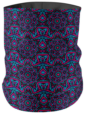 Big Tex Funkadelic - Pink and Blue Mandala Collage Bandana Mask
