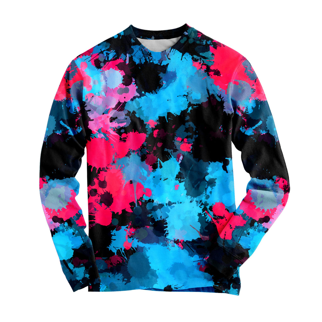 Big Tex Funkadelic - Pink and Blue Paint Splatter Long Sleeve