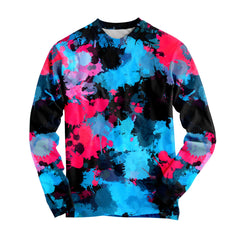 Big Tex Funkadelic Pink and Blue Paint Splatter Long Sleeve - iEDM