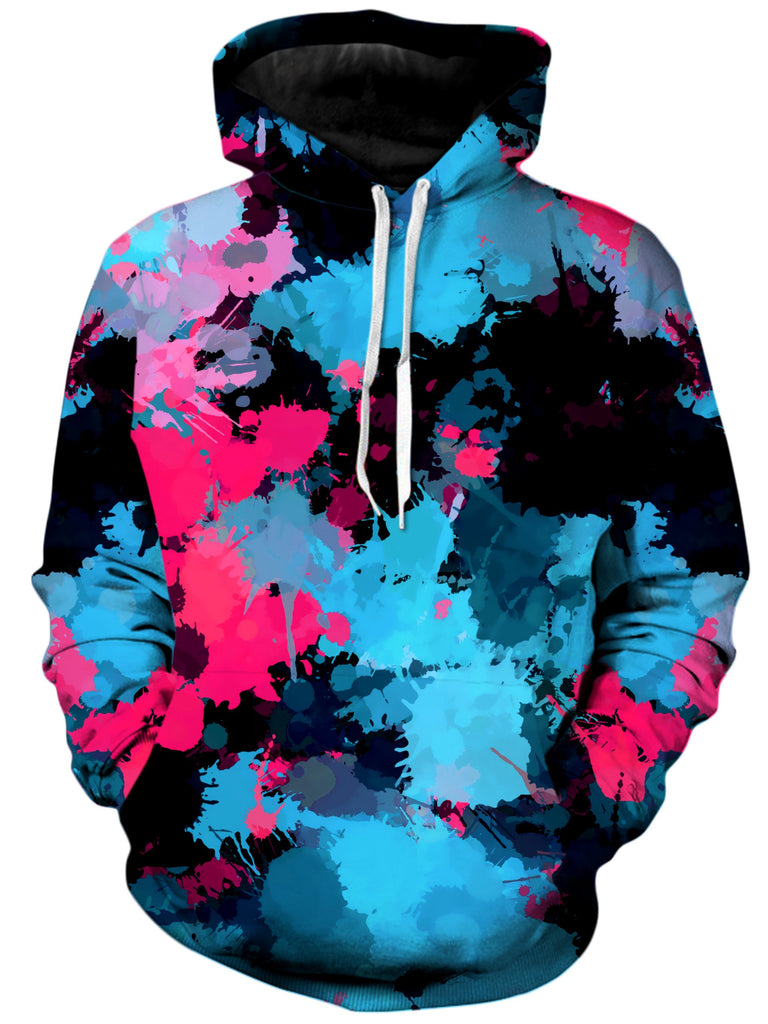 Big Tex Funkadelic Pink and Blue Paint Splatter Unisex Hoodie - iEDM