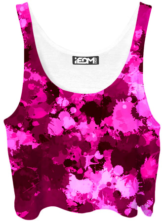Big Tex Funkadelic - Pink Berry Paint Splatter Crop Top