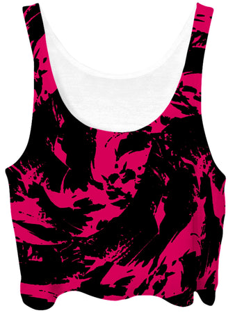 Big Tex Funkadelic - Pink Swirl Crop Top