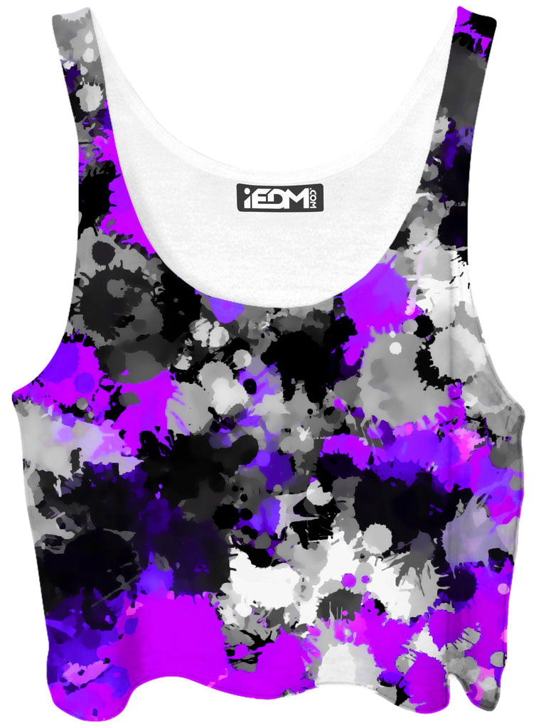 Big Tex Funkadelic Purple Drip Crop Top - iEDM
