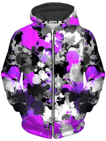 Big Tex Funkadelic - Purple Drip Unisex Zip-Up Hoodie