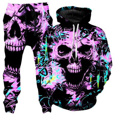 Big Tex Funkadelic - Skull Graffiti Hoodie and Joggers Combo