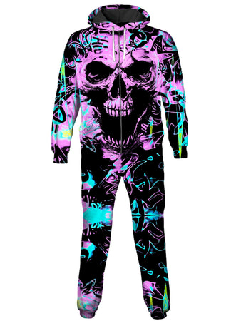 Big Tex Funkadelic - Skull Graffiti Onesie