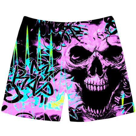 Big Tex Funkadelic - Skull Graffiti Swim Trunks