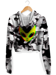 Big Tex Funkadelic Trippy Alien Fleece Crop Hoodie - iEDM