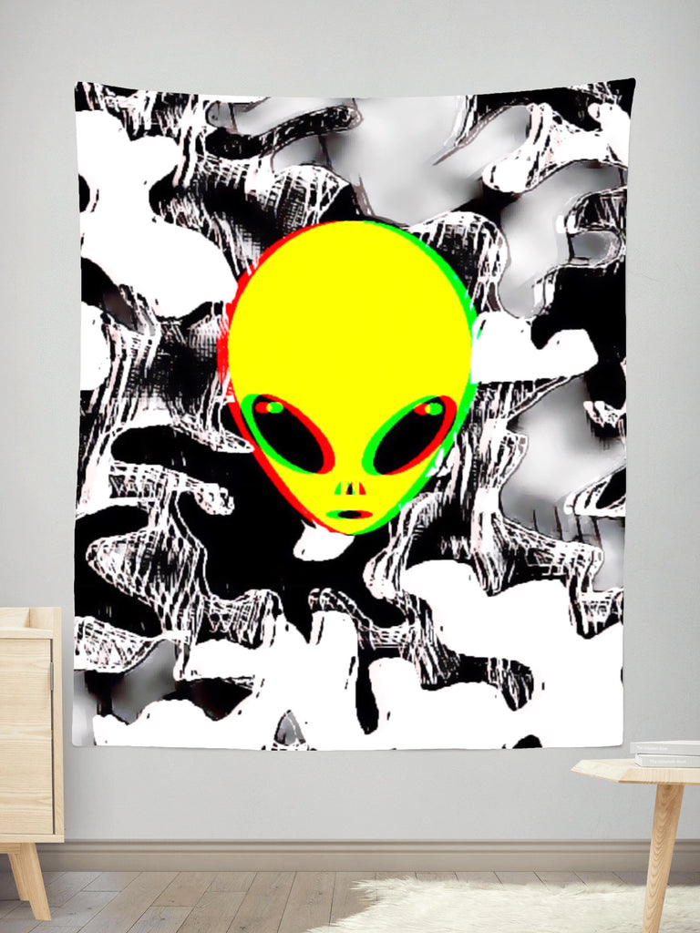 Big Tex Funkadelic Trippy Alien Tapestry