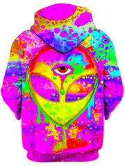 BrizBazaar Alien Melt Yellow Unisex Zip-Up Hoodie