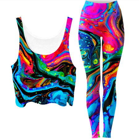 BrizBazaar - Funkadelic Crop Top and Leggings Combo