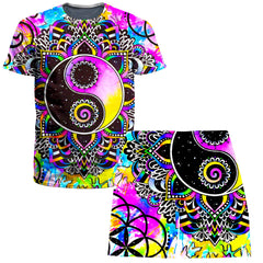 BrizBazaar Magical Balance T-Shirt and Shorts Combo