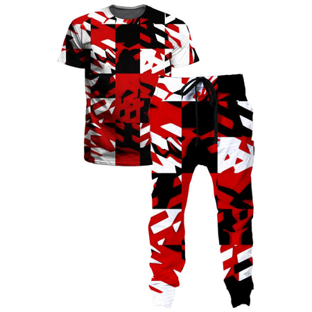 Big Tex Funkadelic - Red Digital T-Shirt and Joggers Combo