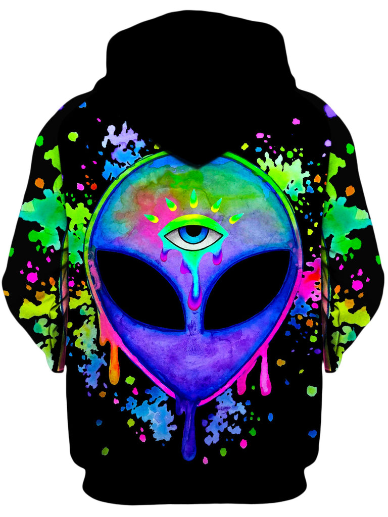 BrizBazaar Splatter Alien Unisex Zip-Up Hoodie
