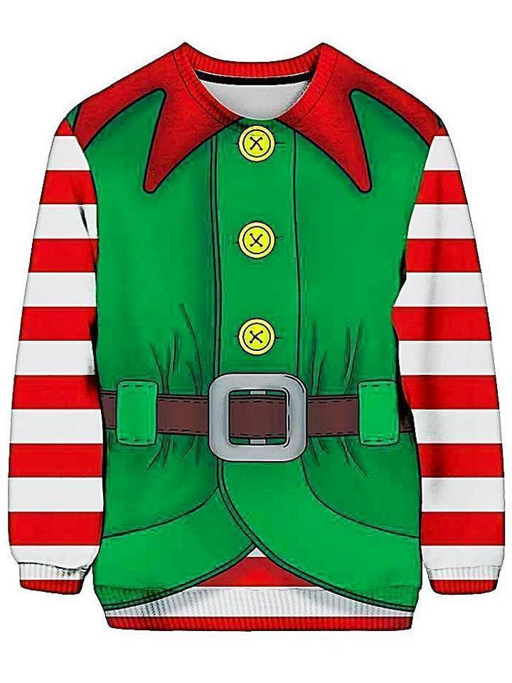 Christmas Elf Ugly Sweatshirt (Ready To Ship)