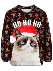Christmas Grumpy Cat Ugly Sweatshirt - iEDM