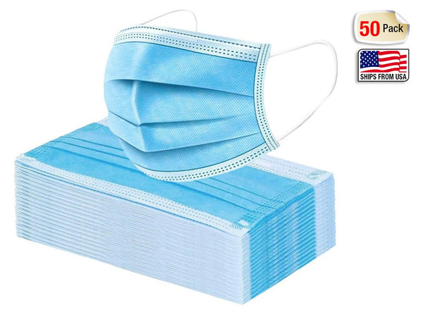 Cloth Face Mask - 3 Ply Non-Medical Masks (50 Mask Box)