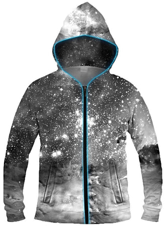 Galaxy Collection - Black & White Cosmos Light Up Hoodie