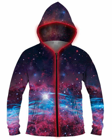 Galaxy Collection - Deep Space Light Up Hoodie