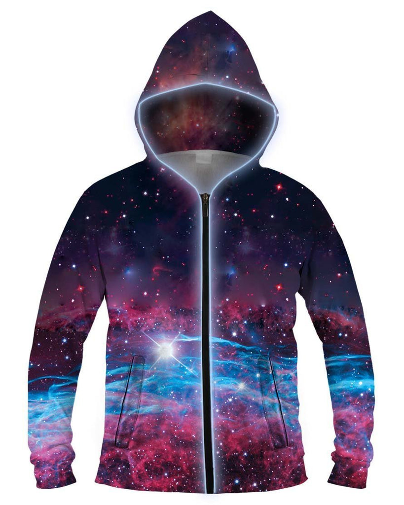 Galaxy Collection Deep Space Light Up Hoodie - iEDM
