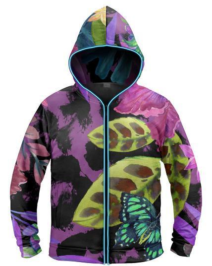 Galaxy Collection - Jungle Butterfly Light Up Hoodie