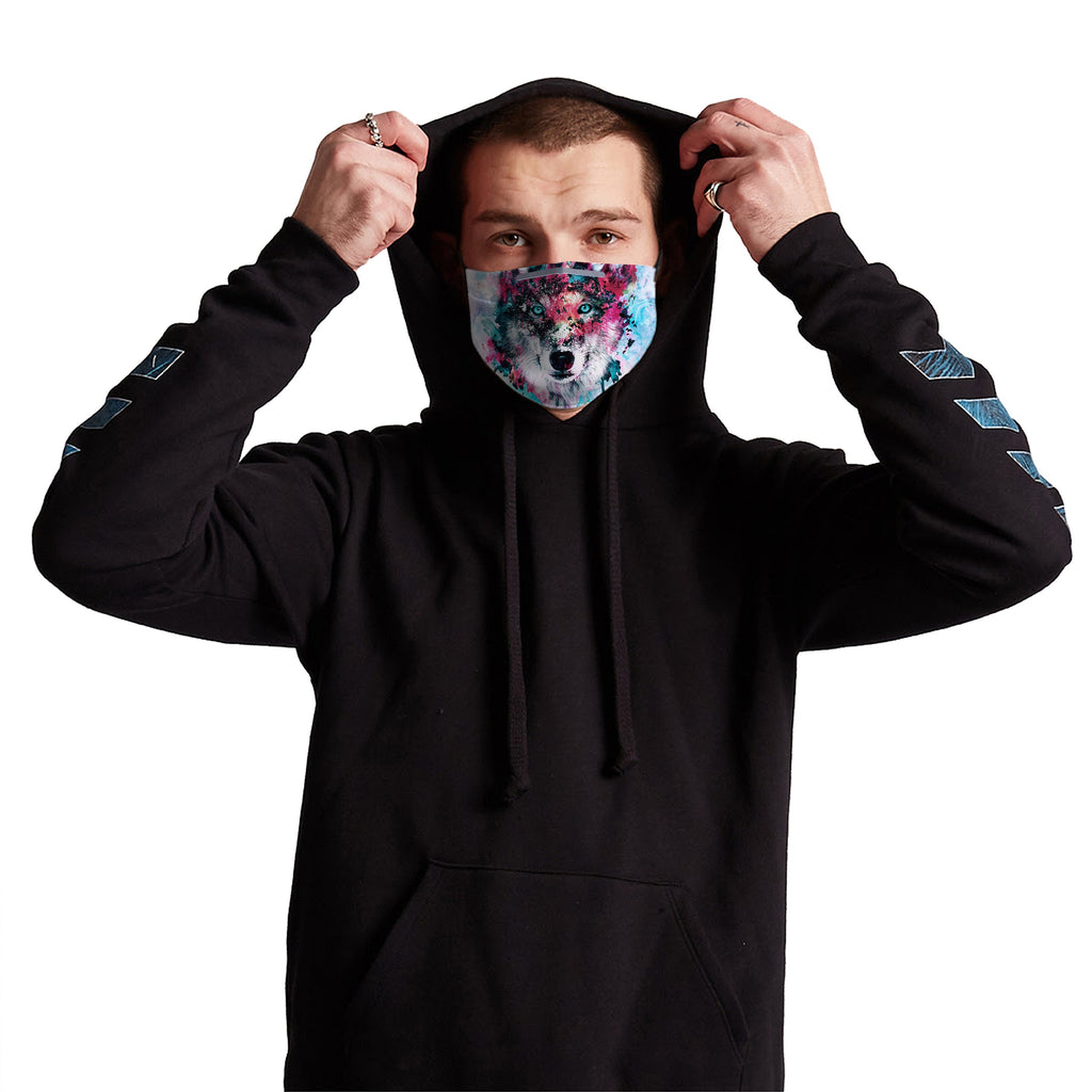 Germ Mask Wolf Anti-Germ & Pollution Mask With (4) PM 2.5 Carbon Filters - iEDM