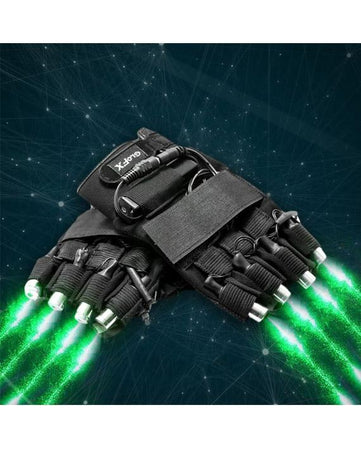GloFX - LZR Laser Gloves - Green