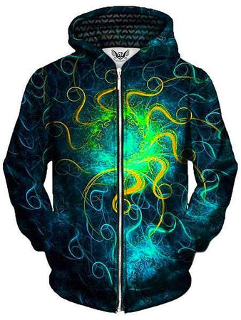 Gratefully Dyed - Euphoric Space Unisex Zip-Up Hoodie
