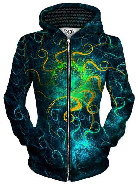 Gratefully Dyed Euphoric Space Unisex Zip-Up Hoodie - iEDM
