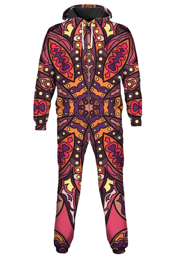 Gratefully Dyed Floral Sunset Onesie - iEDM