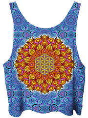 Gratefully Dyed Flower of Life Crop Top