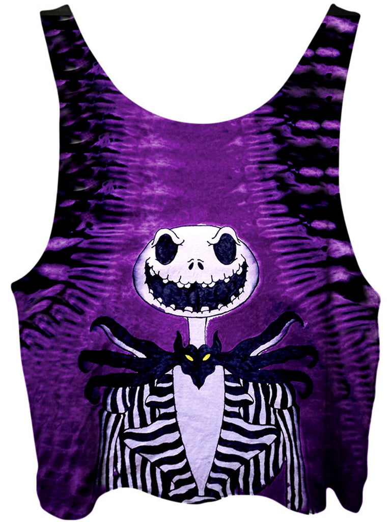 Gratefully Dyed Jack Skellington Crop Top