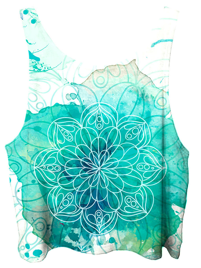 Gratefully Dyed Mandala Splotches Crop Top